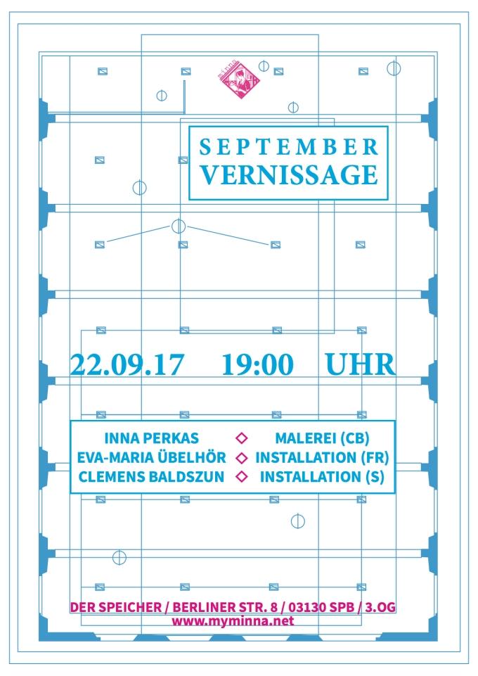 Plakat Ausstellung 22.9.17